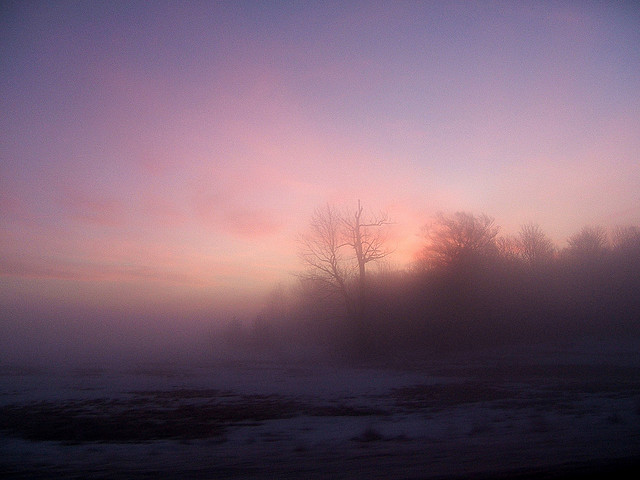 ice fog sunrise