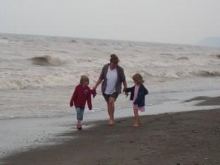 the girls on beach